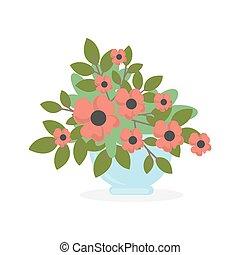 Flowers in pot.