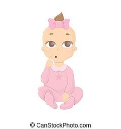 Thinking baby girl.