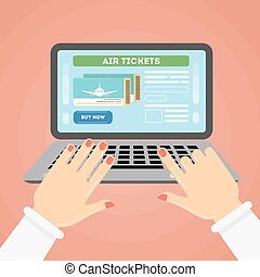 Flight ticket search.