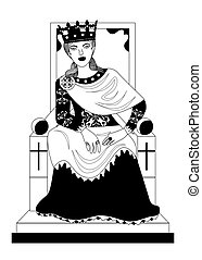 the empress woman black - the illustration - with portrait...