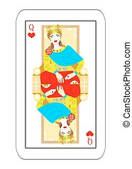 some empress card hearts - Illustration - card of the queen...