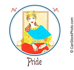 the pride sin - Illustration with a woman on the theme of...
