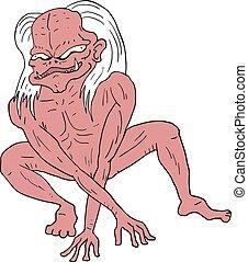 fantasy red monster