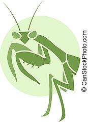 mantis insect design - Creative design of mantis insect
