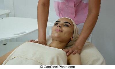 Women at massage beauty salon