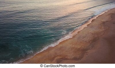 View from the height on a deserted beach. The Portuguese...