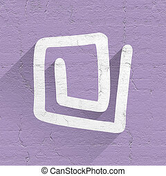 abstract purple icon - Creative design of abstract purple...