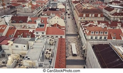 Lisbon from a bird's eye view - Flight over Lisbon,...