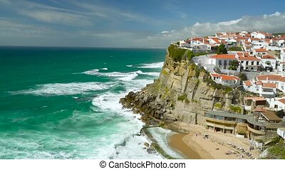 Azenhas do Mar, Sintra, Portugal coastal town. Beautiful...
