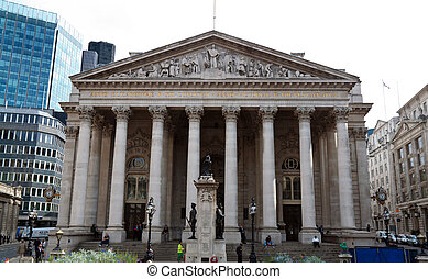 London Stock Exchange - The old Stock Exchange building in...