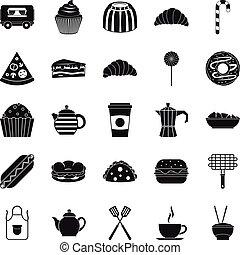 Ingestion icons set, simple style - Ingestion icons set....
