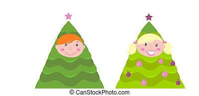 Christmas cute kid tree costume