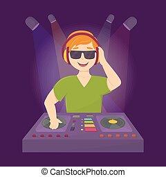 Cool dj in club.