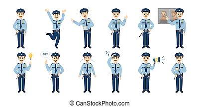 Police officer emoji. - Police officer emoji set on white...
