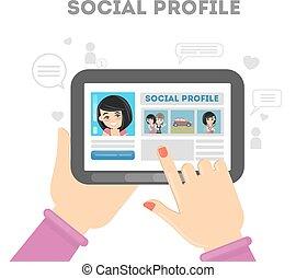 Social profile in media.
