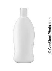 Isolated shampoo bottle. - Isolated shampoo bottle on white...