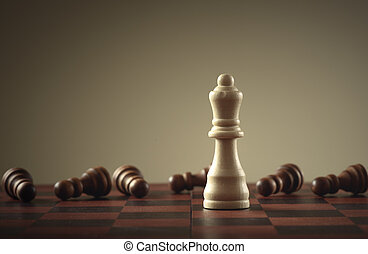 Chess game. Business concept of leadership