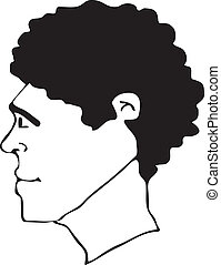 afro hair style vector