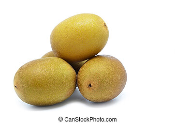 Whole yellow or gold kiwi fruit