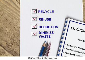 Recycle and conservation- many uses in the environment...