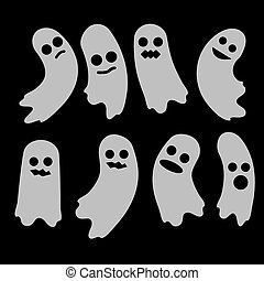 Ghost. A set of ghosts. Halloween element design