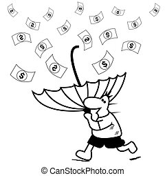 Money Rain. vector illustrator. see more images related.