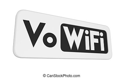 Voice over WiFi Sign Isolated