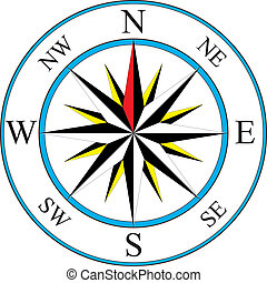 Compass icon - Vector illustration of simple compass