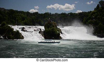 The Rhine Falls in Schaffhausen, Switzerland. The Rhine...