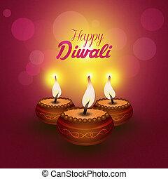 Happy Diwali - illustration of Happy Diwali