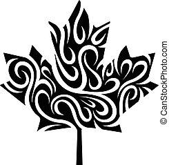 stylized maple leaf