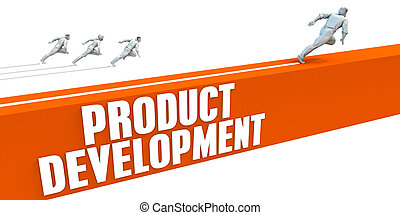 Product Development Express Lane with Business People...