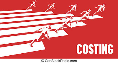 Costing with Business People Running in a Path