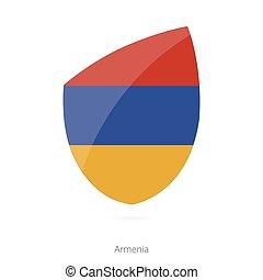 Flag of Armenia. Armenian Rugby flag. Vector Illustration.