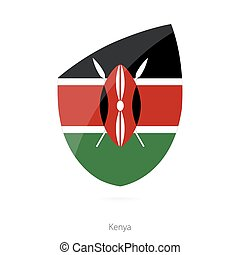 Flag of Kenya in the style of Rugby icon. Vector...