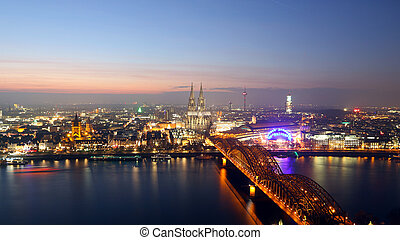 Cologne city skyline Germany