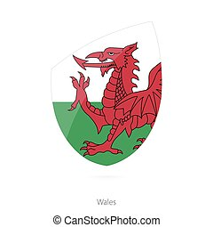 Flag of Wales. Vector Illustration.