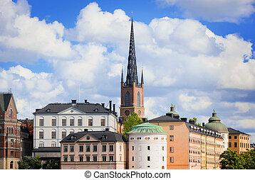 RIDDARHOLMEN ISLAND, SWEDEN, STOCKHOLM