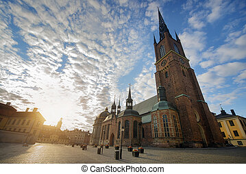The Riddarholmen Church in Stockholm Sweden