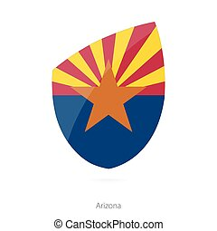 Flag of Arizona. Vector Illustration.