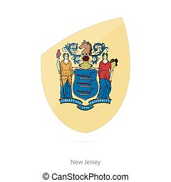 Flag of New Jersey. Vector Illustration.