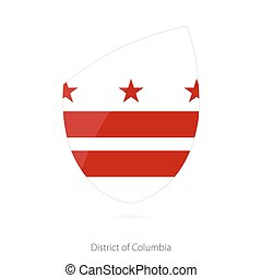 Flag of District of Columbia. Vector Illustration.