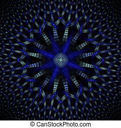 Computer Generated Fractal Image - Fractal Generated By A...