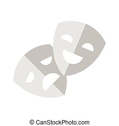 flat style illustration of theater mask. - Vector flat style...