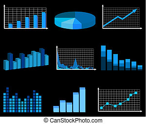 Business charts - Blue business chart