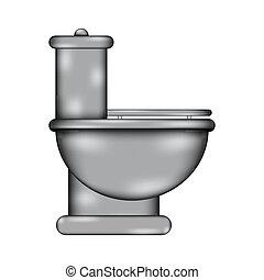 Toilet sign icon. - Toilet sign icon on white background....