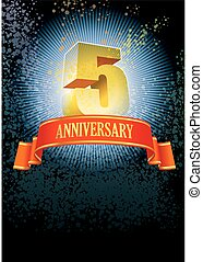 Fifth anniversary poster - Background with design elements...