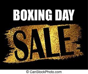 Boxing day sale banner. - Boxing day sale banner with on...