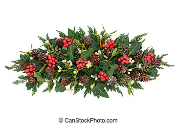 Holly and Winter Greenery - Christmas and winter decoration...