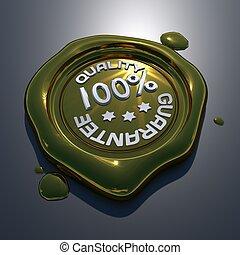 100 percent Guarantee Stamp